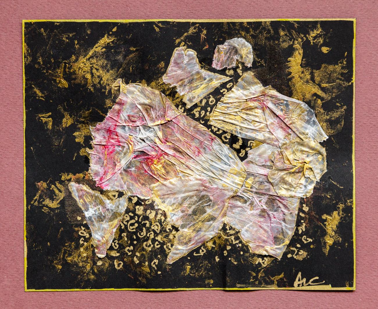 collage n°8   Ange en fuite